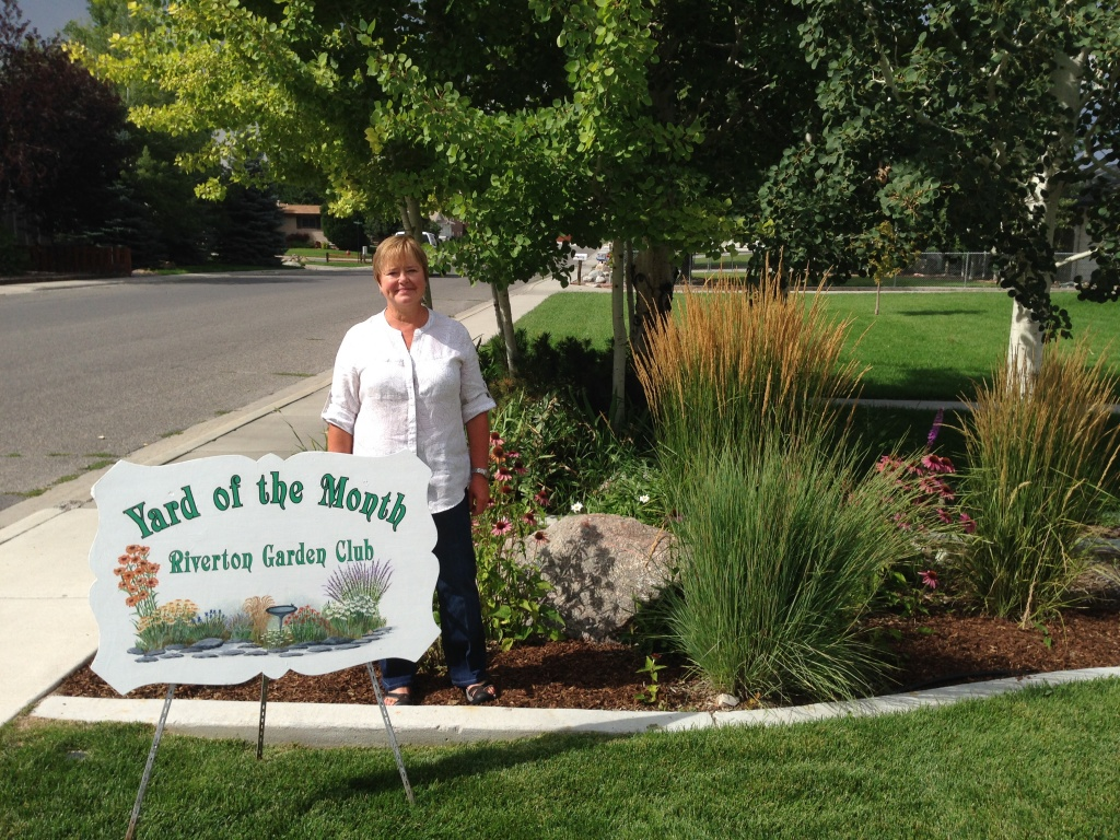 Jane & Doug Stanbury's yard at 435 Big Bend is Riverton's Yard of the Month for August. (Riverton Garden Club)