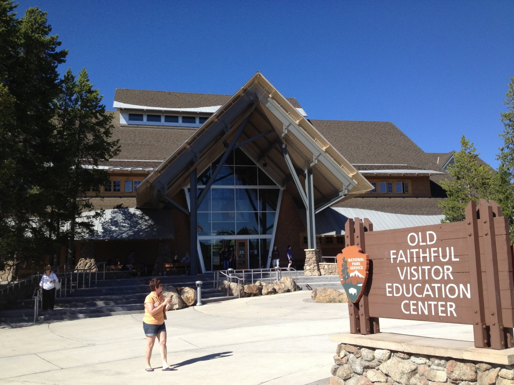 The visitors center at Old Faithful, Yellowstone National Park. (Ernie Over photo)