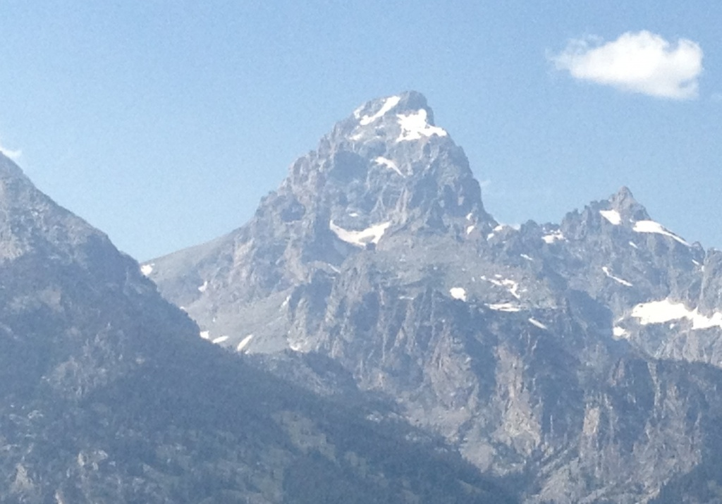 The Grand Teton in Grand Teton National Park was the site of a climber rescue Friday after a solo-climber fell and was seriously injured. (Ernie Over photo)