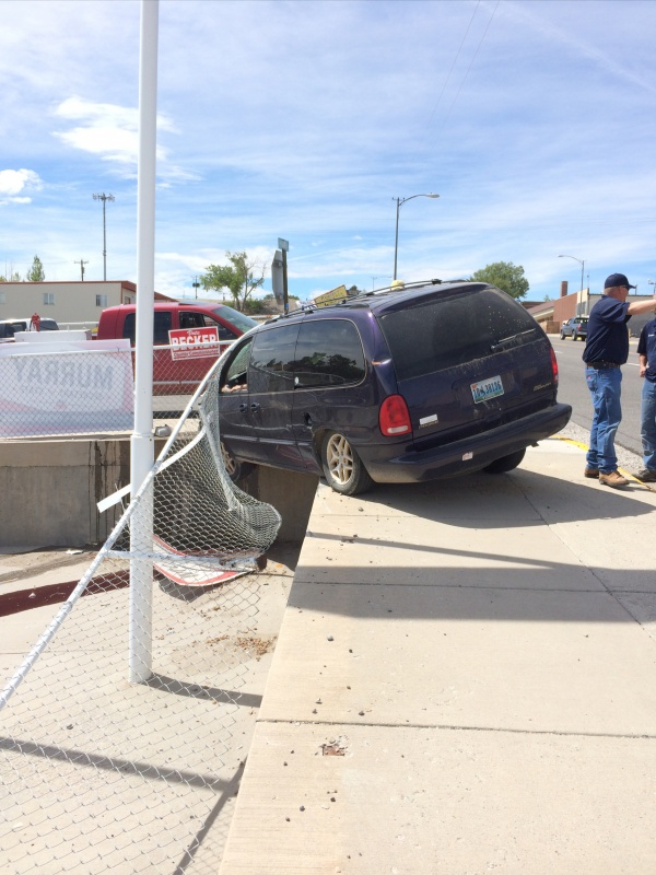 Photo by Alisa Granger of the West Main vehicle crash Tuesday afternoon.