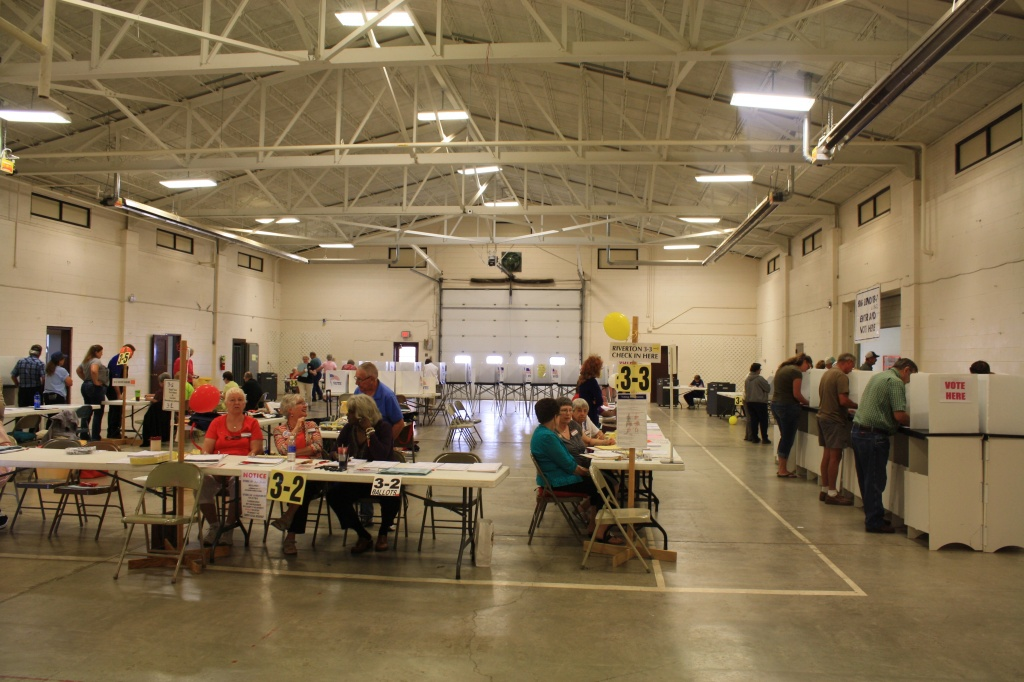 Voters in Riverton cast ballots at the Fremont Center.