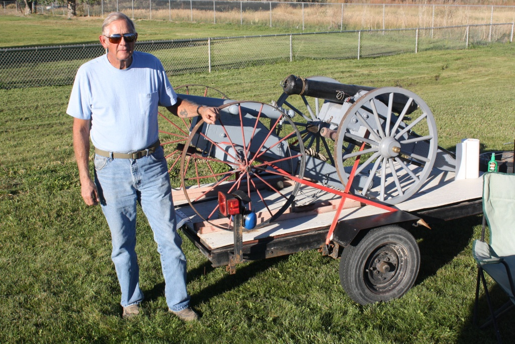 Doc Holliday is pictured at a Wind River High School football game one year ago. Holliday gained approval to use a cannon this fall at RHS. (Ernie Over photo)