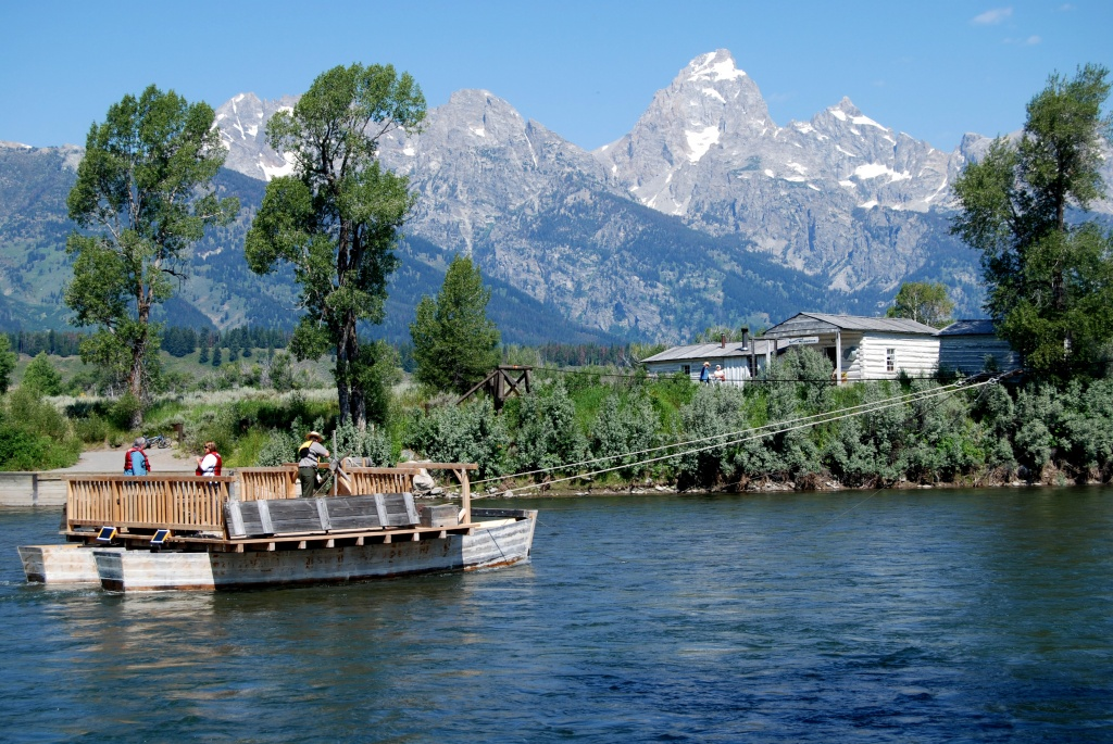 Menor's Ferry on the Snake River at Moose in Grand Teton National Park. (GTNP)