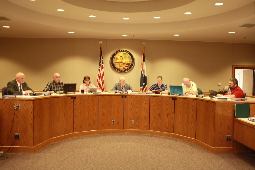 The Riverton  City  Council in session earlier this year. (File photo)