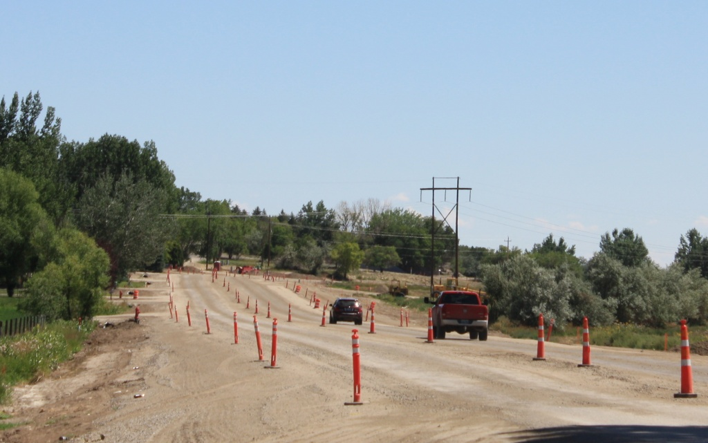 Riverview Road is nearing the paving portion of the project. A test strip is scheduled to be put down this Thursday. The entire paving will take about a week to complete. (Ernie Over photo)