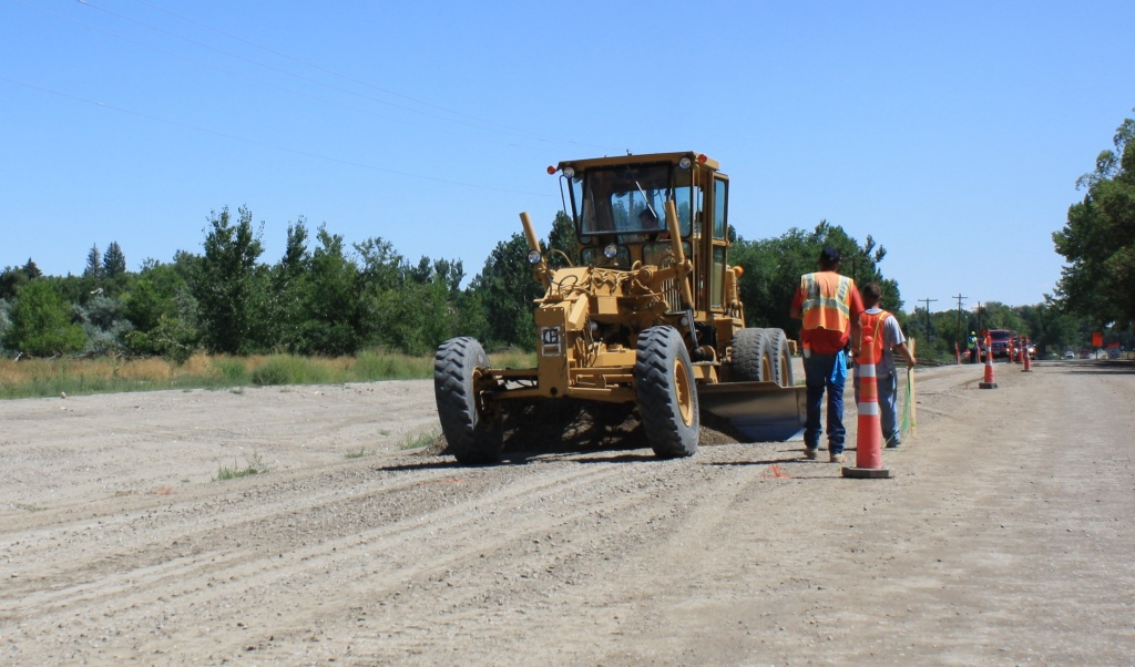 McGarvin-Moberly, the subcontractor for paving the Riverview Road Project, is slated to begin paving later this week after the final layer of base is completed on the roadway and adjacent pathway by General Contractor Jerry Bornhoft Construction. (Ernie Over photo)