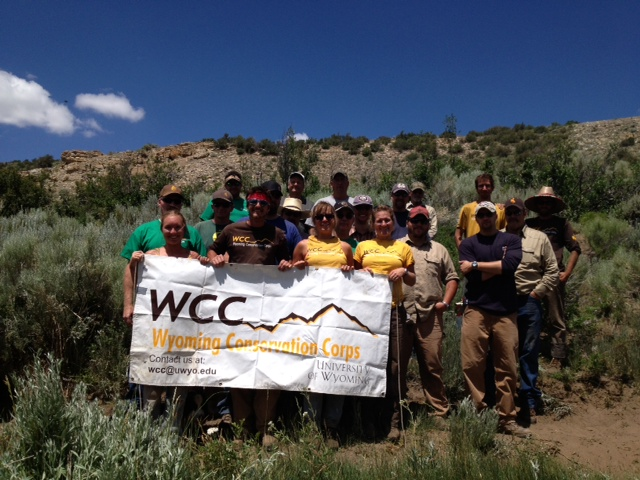 WCC and State Lands Crews are pictured during a 2013 Conservation and Resource Management Project. Photos from this summer's activities in Fremont County were not available.