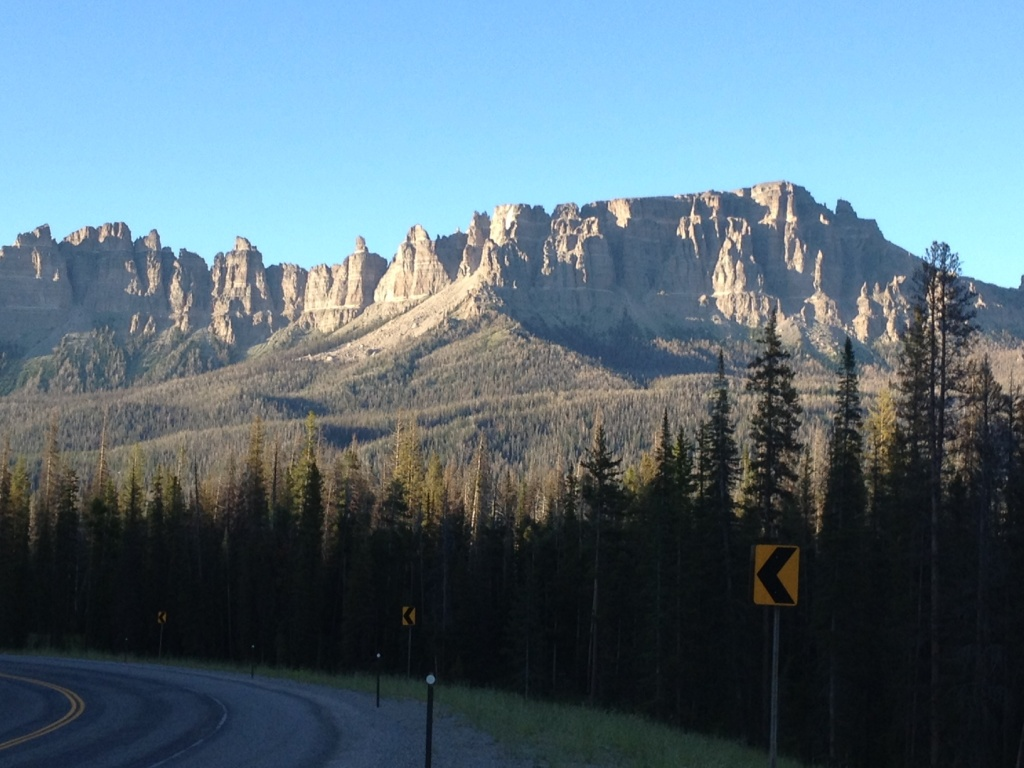 The Pinnacles on Togwotee Pass just west of Brooks Lake. (Ernie Over photo)