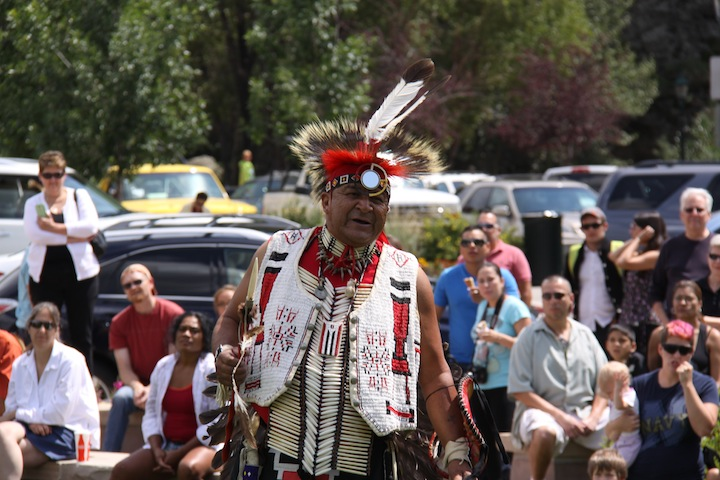 Lawrence Bell demonstratedTraditional Northern Arapaho Dancing at Rocky Mountain National Park August 8th.