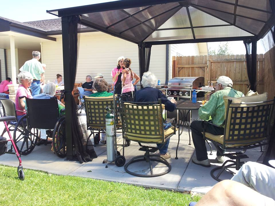 Residents, staff and guests enjoyed the new BBQ area in the back yard of the Help For Help Hospice Home this past weekend.