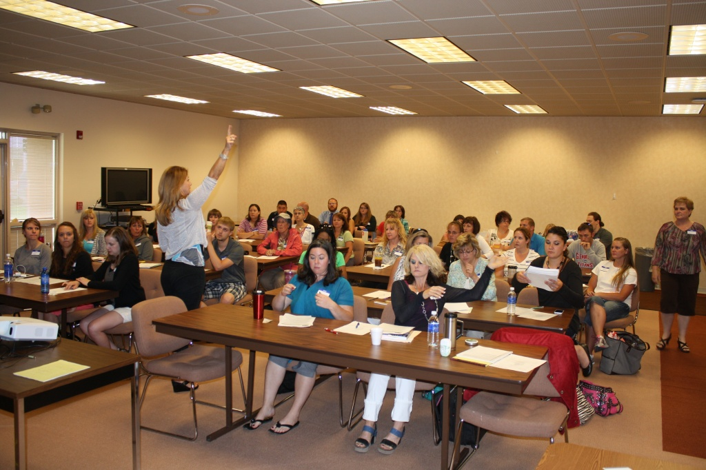 The new teachers in FCSD#25 participated in day three of a three-day Induction process this morning led by Assist. Supt. JoAnne Flanagan. (Ernie Over photo)