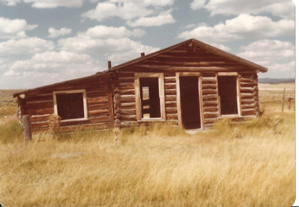 "A building at Pacific Springs on the ""pacific"" side of the Continental Divide. (From the collection of Jean Mathisen Haugen)"