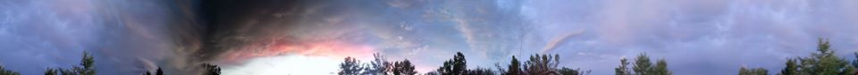 This 360° sky view was photographed Monday night by Amber Brown to share with County10.com readers.