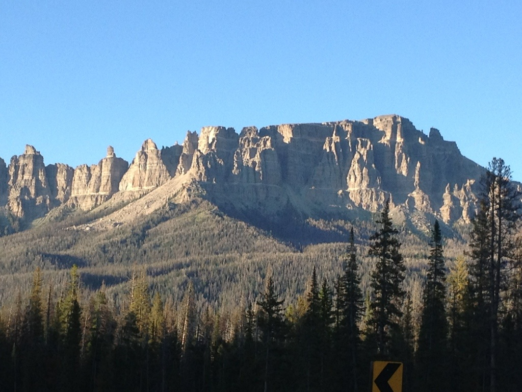 A timber sale at the Brooks Lake Campground is set to be logged beginning Friday. The Breccia Cliffs above Brooks Lake is pictured. (Ernie Over photo)