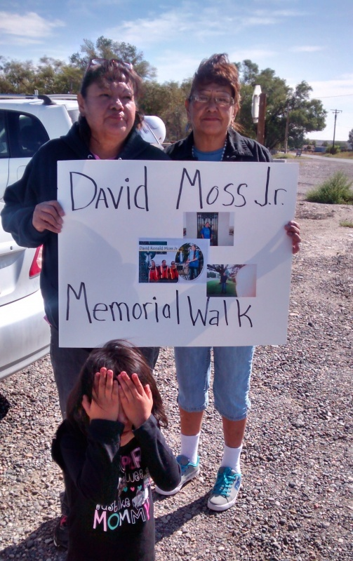 The family of David Moss held a memorial walk in his memory Thursday in Riverton. (Dana Flint Photo)