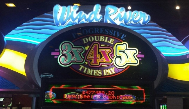 The winning total is displayed on the casino's progressive slot. (WRC photo)