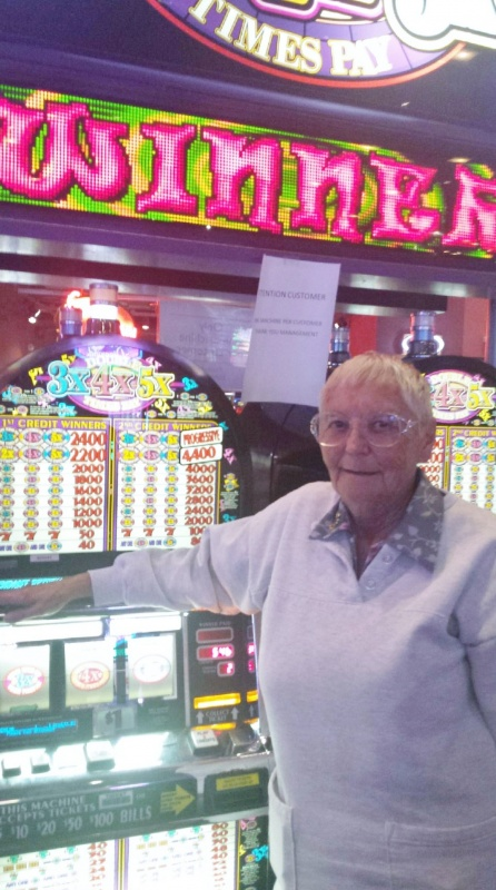 Vonna Henke of Dubois hit the largest jackpot ever paid out at the Wind River Casino  on August 28th. (Wind River Casino photo)