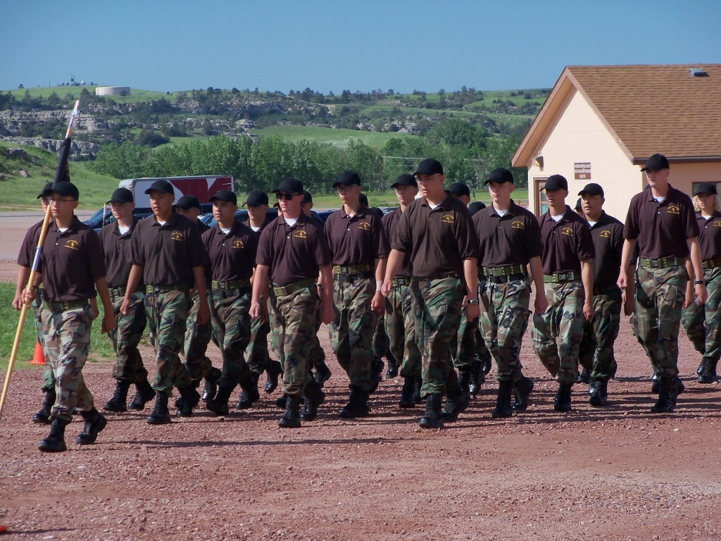 Class 21 Family Day Parade of Cadets (Wyoming Cowboy ChalleNGe Academy photo)