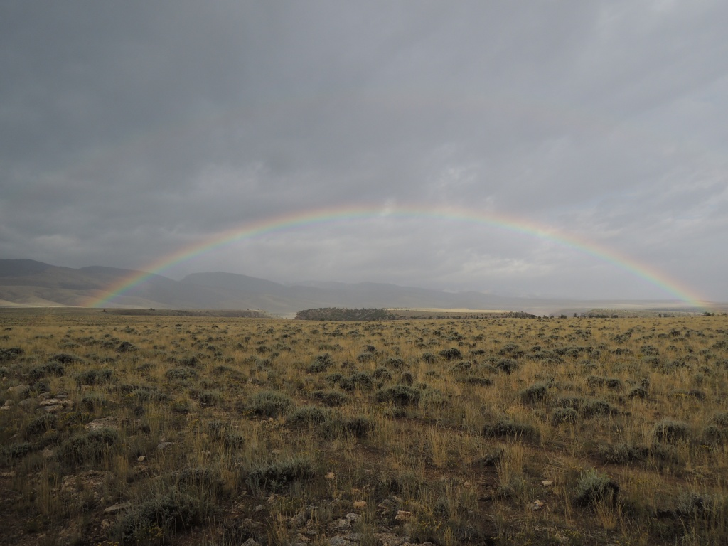 Mandi Hirsch captured this image of a rainbow in the plains leading to the east slope of the Wind River Range near Crowheart.