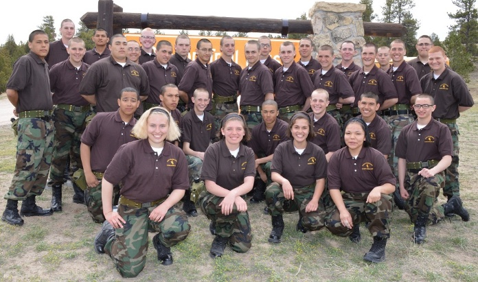 Class 21 Transition Day at Camp Guernsey Joint Training Center. (Wyoming Cowboy ChalleNGe Academy photo)
