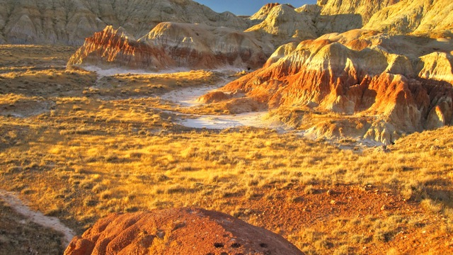 The Badlands near Oil Mountain was photographed by Kurt Schafli and shared with County10.com.