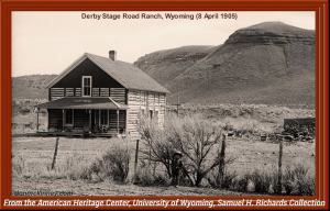 The Old Log House was once a stage station. (Collection of Don McKinney)