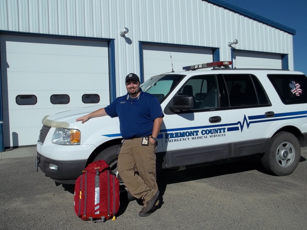 Jess Miller, RN, Fremont County EMS Mobile Integrated Health Clinical Supervisor.