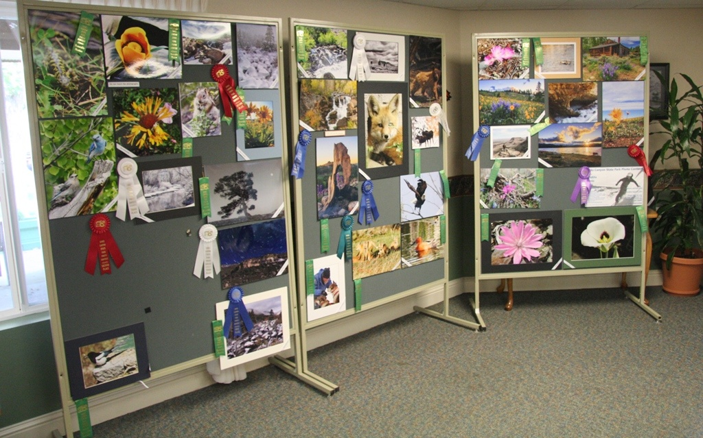 The Sinks Canyon State Park photos on display at Westward Heights Care center in September.