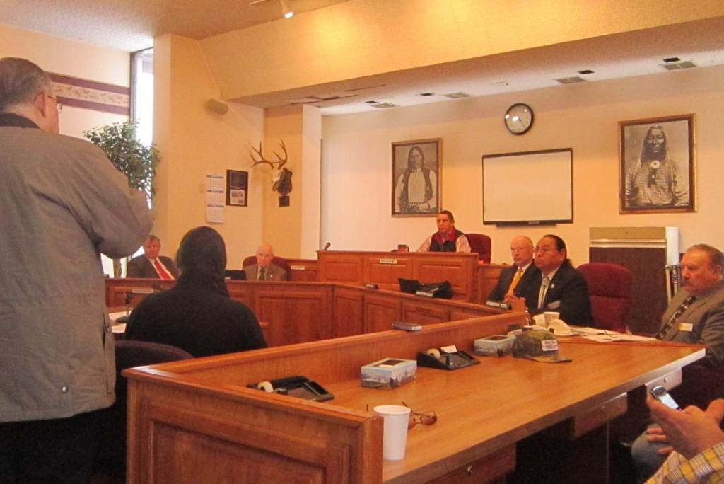 The Joint Business Council Chambers hosted a meeting of the Wyoming Legislature's Joint Tribal Relations Committee in 2013.