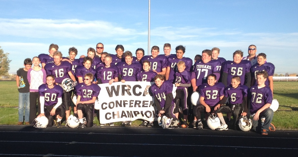 The Wind River Middle School Cougars, Champions of the WRCAA.