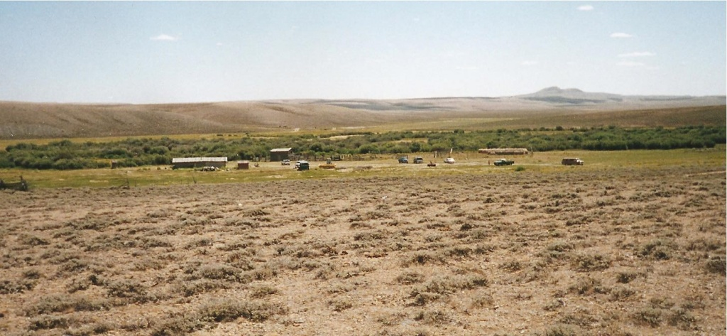 a general overview of Burnt Ranch with Continental Peak in the background. (Jean M. Haugen collection)