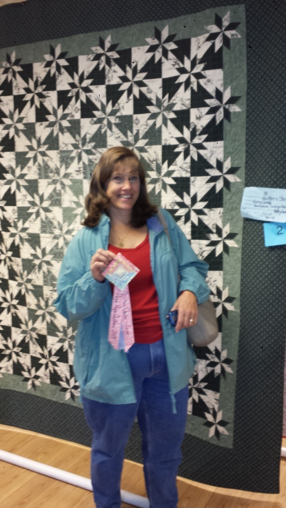 1st Place large quilt winner Kathy Gandy. Photo provided by April Pendleton.