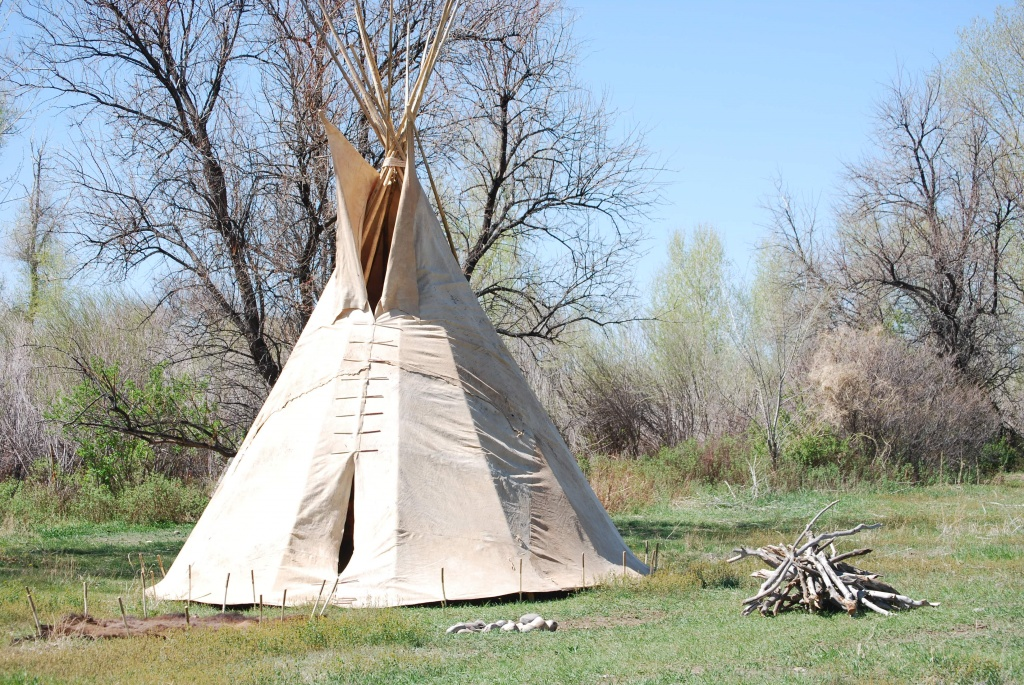 The tipi on display at St. Stephens Indian School, which the documentary centers around. Photo provided by Dara Weller.