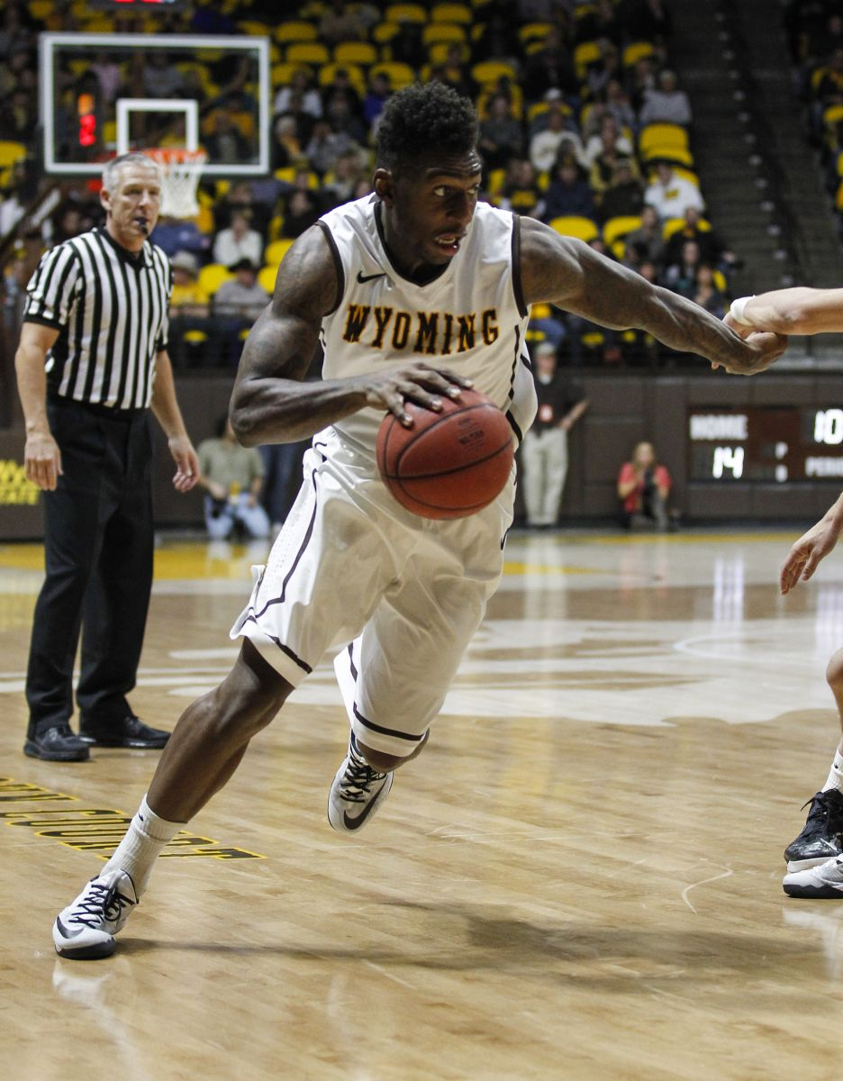 Charles Hankerson Jr.  hit a three-point shot with 14 seconds left to secure Wyoming's first ever win at Fresno State on Saturday night. (UW)