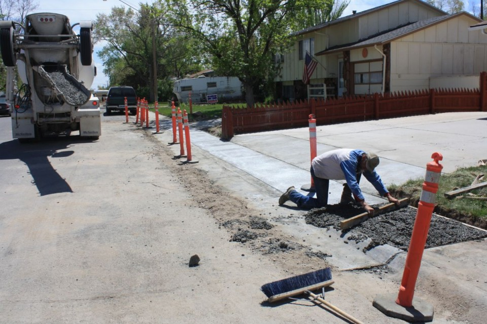 The concrete replacement project this past summer in Riverton, funded by the optional one-cent sales tax, was just one of nine projects completed this summer.