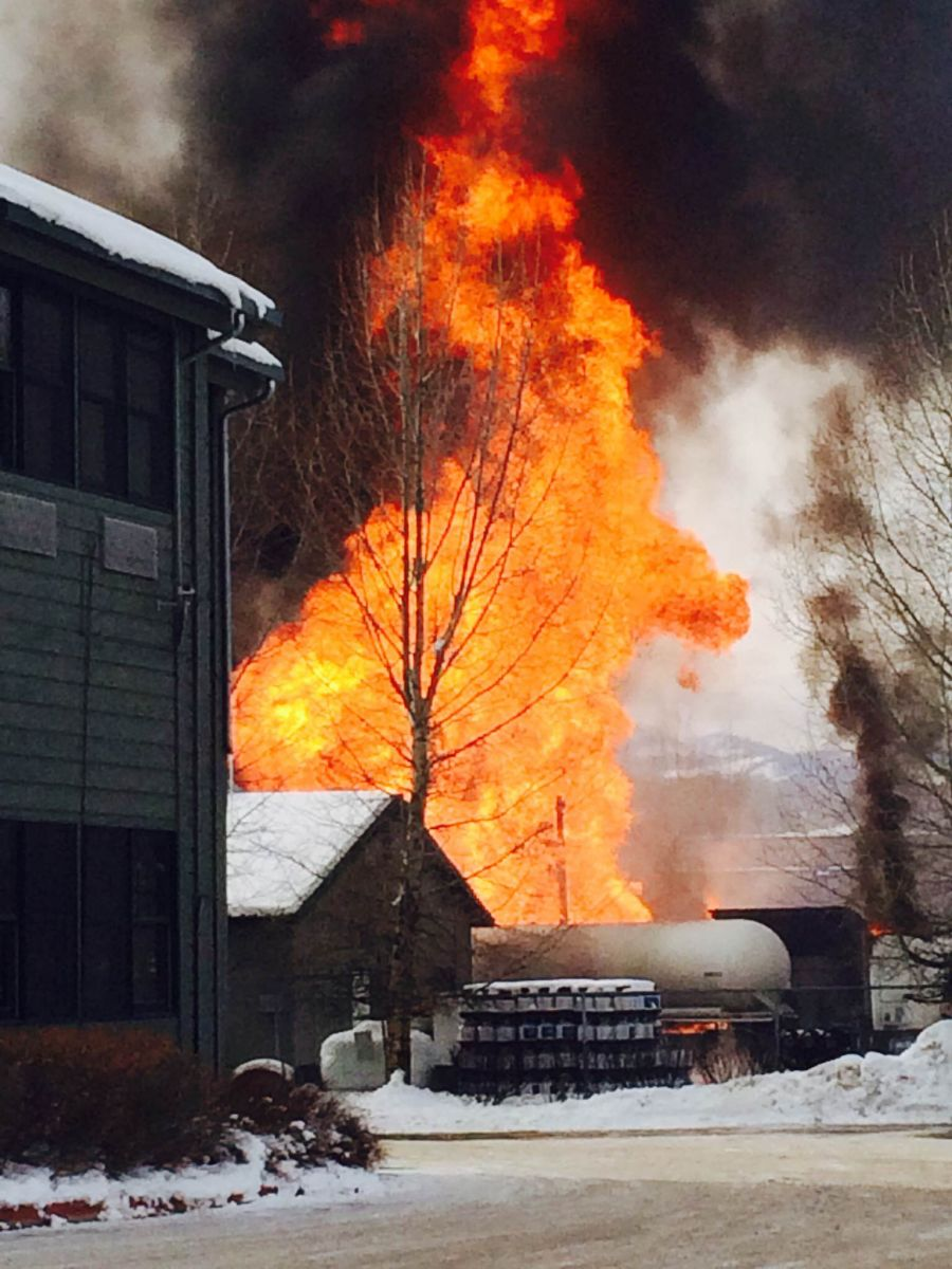 Marvin Howard photo - Propane explosion and fire