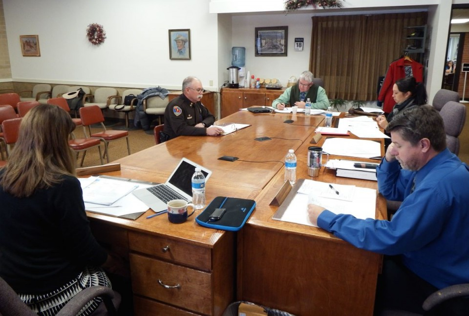 Sheriff Skip Hornecker addressed the county commissioners on Tuesday.