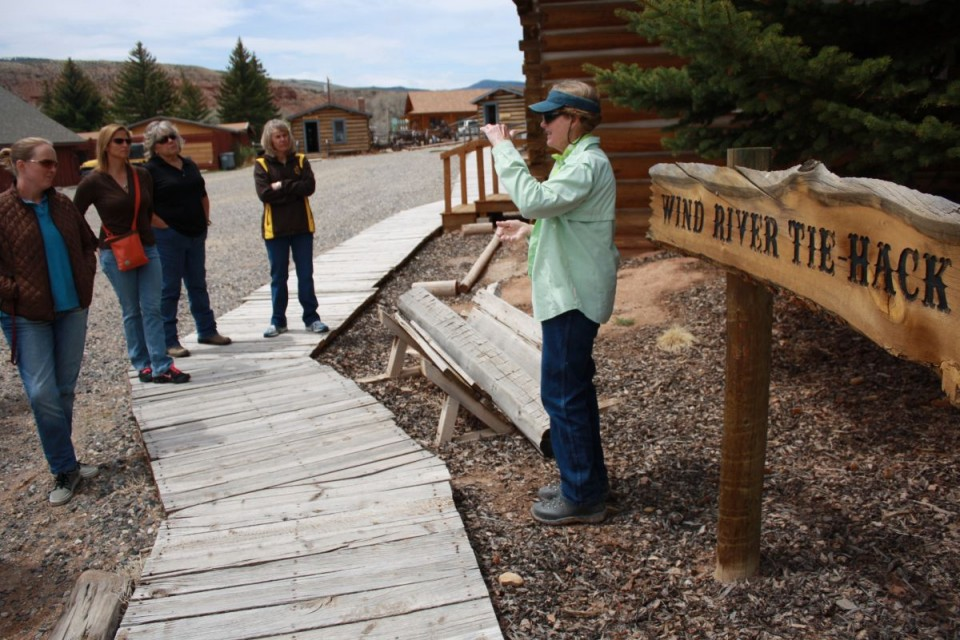 The Tie Hack era of the Upper Wind River Valley is interpreted at the Dubois Museum.