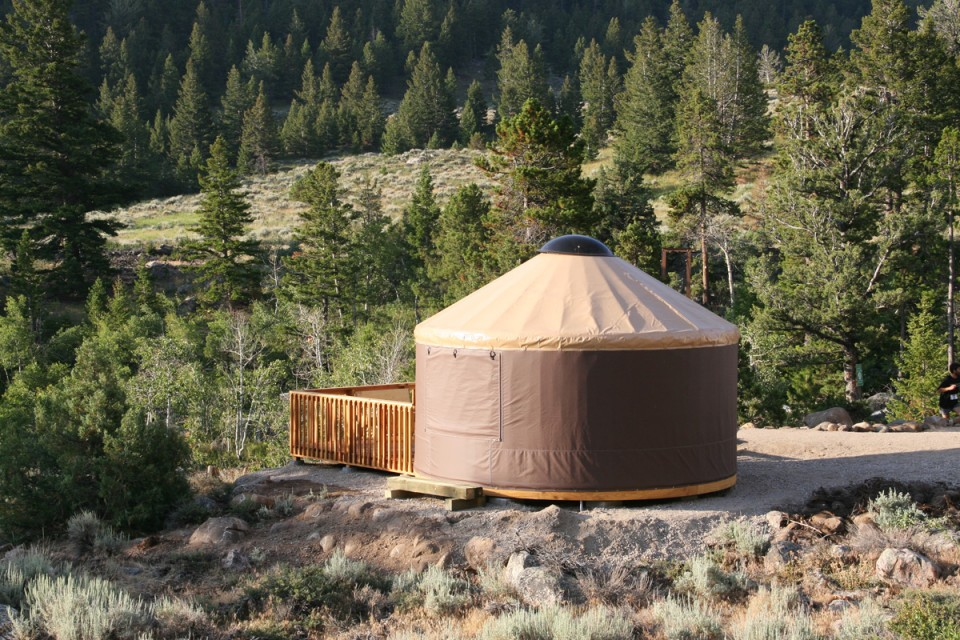 One of the Sinks Canyon State Park Yurts. Photo provided by SCSP.