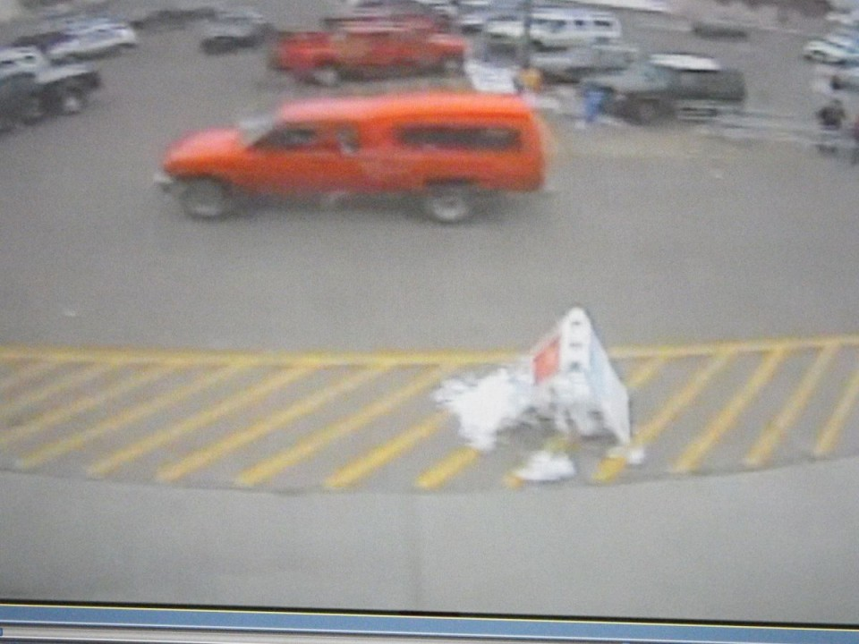 The suspect vehicle