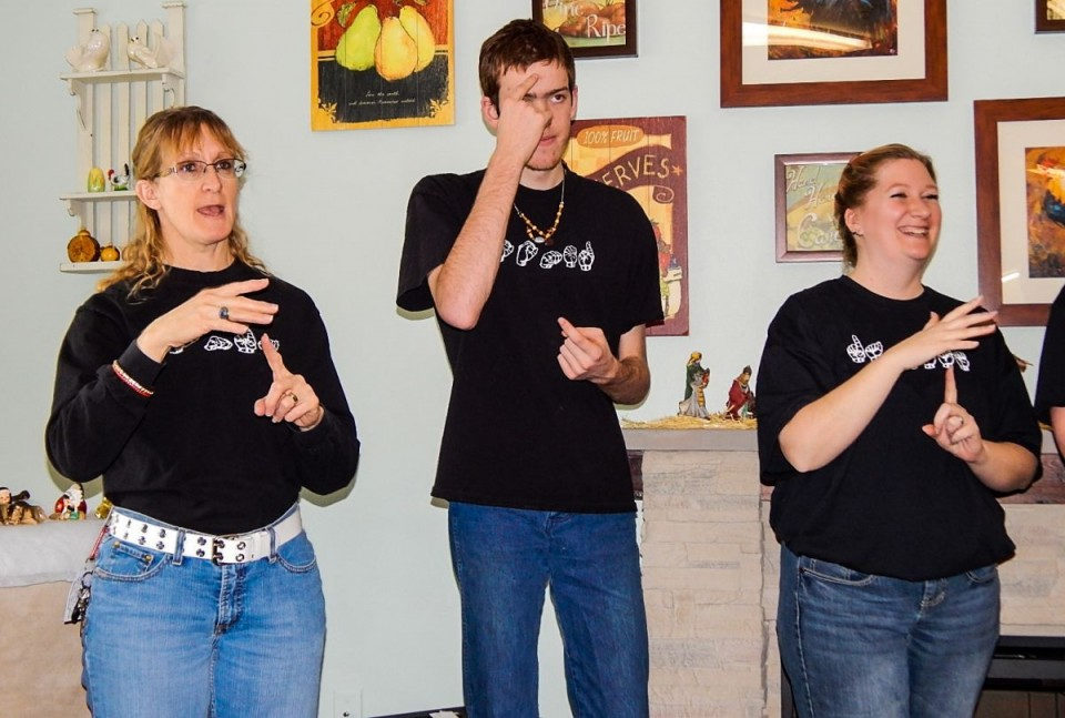 Members of the RHS Sign Club performed several songs at the Homestead Assisted Living Center this past week. (RHS Photo)