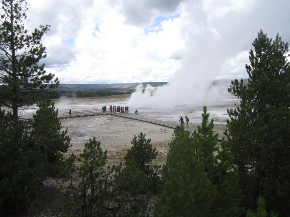 Fountain Paint Pot geysers at Yellowstone National Park. The park's winter season opens Monday. (Ernie Over photo)