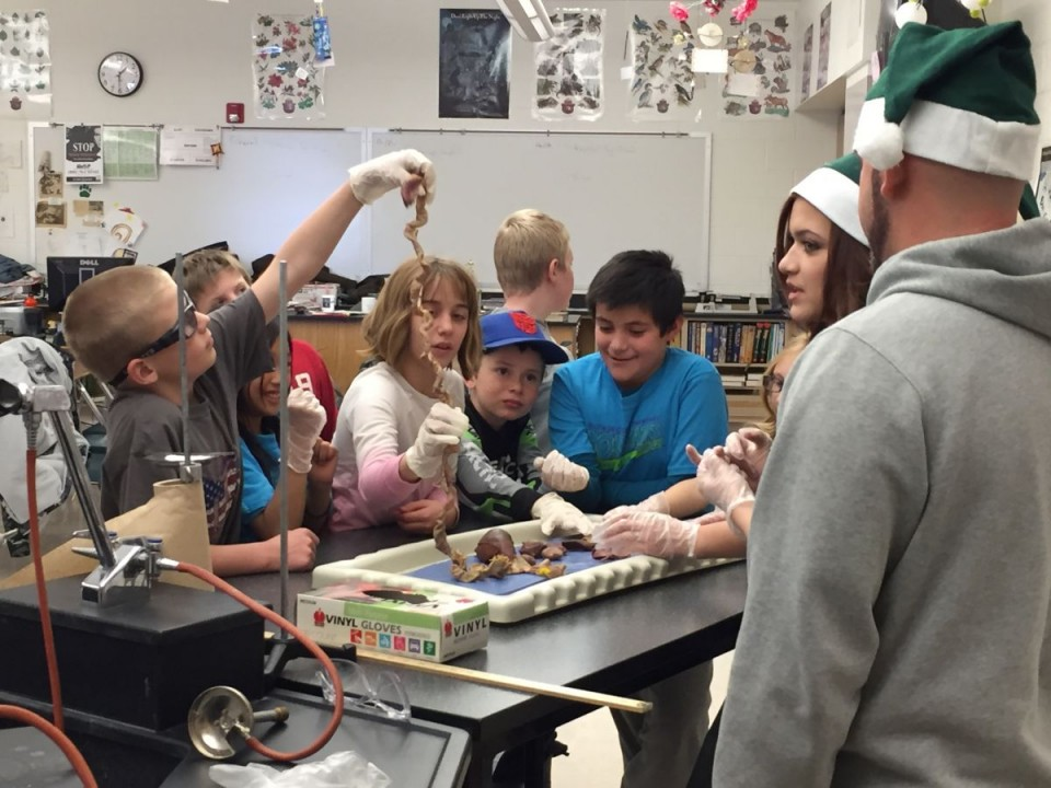 Fourth-graders investigated dissected cats at LVHS.