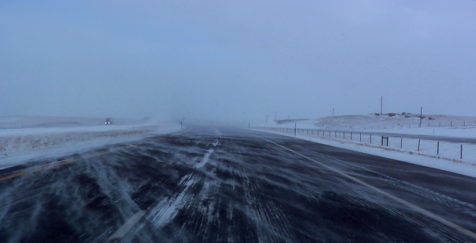 I-80 in the snow. Creative Commons/Greg Younger.