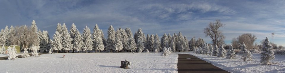 Ron Reddon took this panoramic photo of the newest section of Mountain  View Cemetery at Riverton