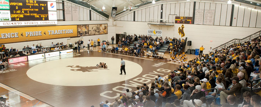 Wyoming Wrestling at the UniWyo Sports Complex in Laramie.