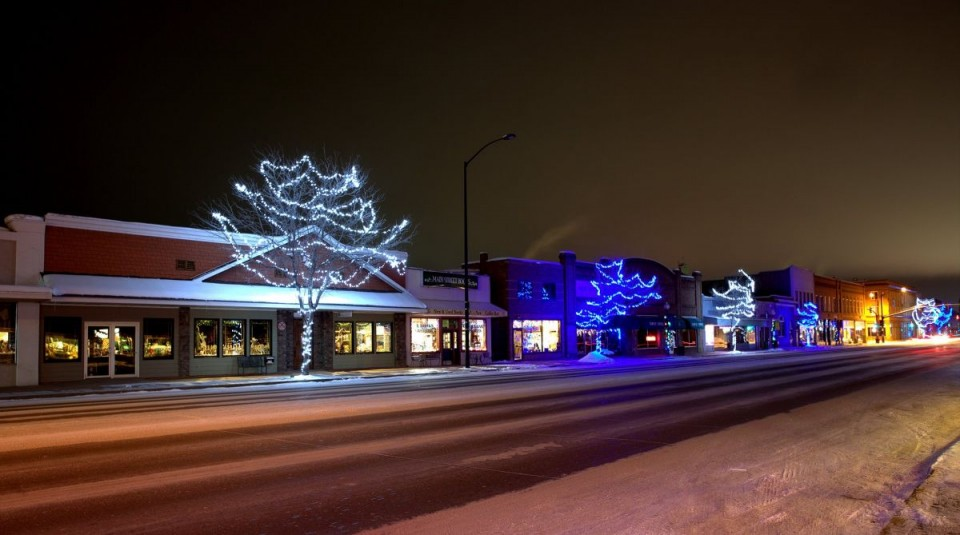 Lander's holiday lights at night by Steve Simpson.