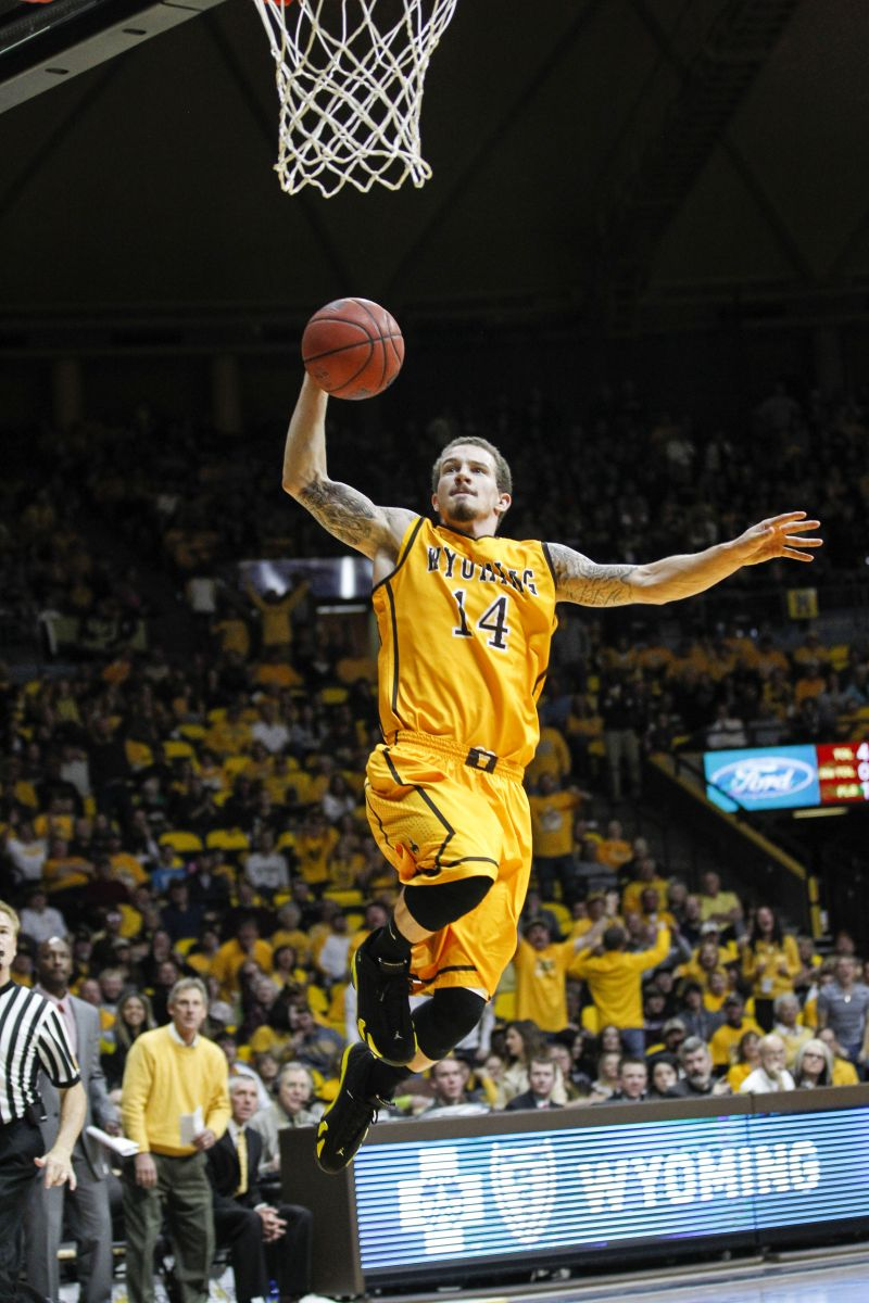 Josh Adams scored 18 points against Nevada, his 20th double-digit point production of the year in the Pokes big comeback win Tuesday night in Reno. (UW)
