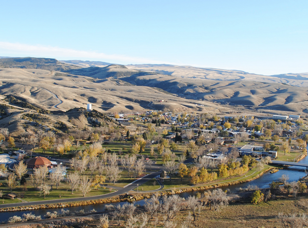 An overview look at a portion of Hot Springs State Park in Thermopolis (WSPHS photo)