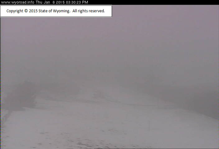 Reduced visibility reported on  South Pass this afternoon. (WYDOT)